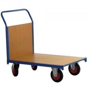 Chariot 500 kg 1 dossier bois plateau 1000x700 roues Ø200