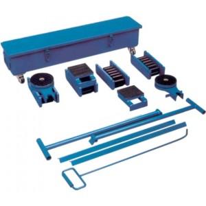 Coffret de manutention KS avec patins rouleurs à chenilles acier - Capacité 20 t à 60 t