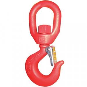 Crochet à linguet forgé CSEAT avec émerillon sur roulement (ROTATIF SOUS CHARGE) - Capacité 16 t à 31,5 t