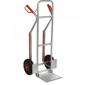 Diable aluminium pour charge haute avec bavette repliable - Capacité 150 kg