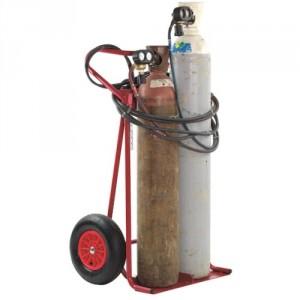 810*7928 - Diable chantier 2 bouteilles diam. maxi 300 mm roues PN - Capacité 250 kg