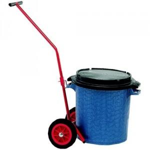 Diable porte poubelle - Capacité 80 kg