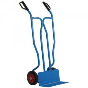 810*3903 - Diables à tablier droit roues CC avec bavette fixe 250 kg