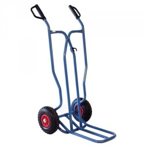 810*3906 - Diables à tablier droit roues PN avec bavette repliable 250 kg