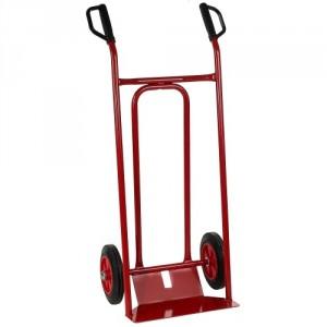 810*119 - Diable à tablier incurvé roues CC avec bavette fixe 250 kg