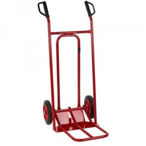 810*125 - Diable à tablier incurvé roues CC avec bavette repliable 250 kg