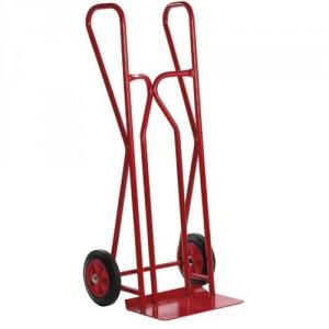 810*3920 - Diable professionnel à poignées fermées roues caoutchouc CCavec bavette fixe 300 kg