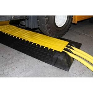 DS 075 - Passages de câbles ou de tuyaux en polyuréthane - Capacité 5000 kg - Passage de câbles 3 canaux Ø 50 mm