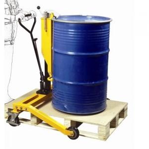 Chariot porte fût acier 210 litres vertical hydraulique avec longerons encadrants - Capacité 250 kg