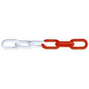 Chaîne de signalisation plastique CP rouge & blanche - Ø 6 mm, 8 mm et 10 mm