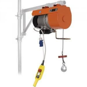 Elévateur de chantier DM 150 pour potence - Capacité 150 kg, Hauteur de levage 25 m, Vitesse de levage 21 m/min