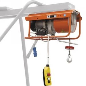 Élévateur de chantier DM 500/E pour chevalet - Capacité 500 kg, Hauteur de levage 25 m, Vitesse de levage 16 m/min et 22 m/min