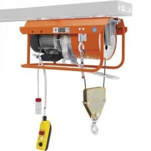 Élévateur de chantier DM 950/E pour chevalet - Capacité 950 kg, Hauteur de levage 25 m, Vitesse de levage 13,3 m/min