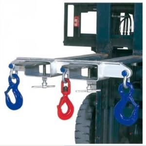 Etrier double à 3 crochets UNO3 pour fourches de chariot - Capacité 1 t à 10 t