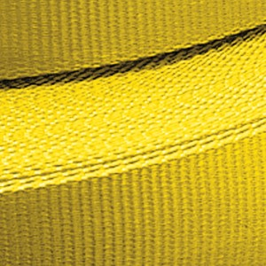 Sangle POLYESTER jaune largeur 75 mm CR 12 t