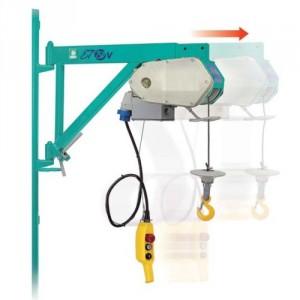 Elévateur de chantier ET 150 V avec potence TELESCOPIQUE - Capacité 150 kg, Hauteur de levage 40 m, Vitesse de levage 30 m/min