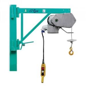 Elévateur de chantier ET 200N avec potence FIXE - Capacité 200 kg, Hauteur de levage 25 m, Vitesse de levage 19 m/min