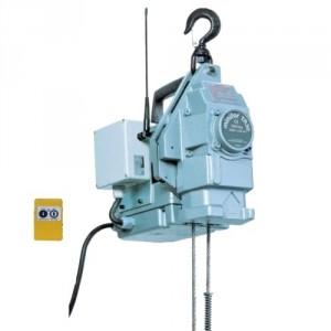 Palan électrique portable à câble passant MINIFOR - Avec télécommande RADIO - Capacité 100 kg à 500 kg