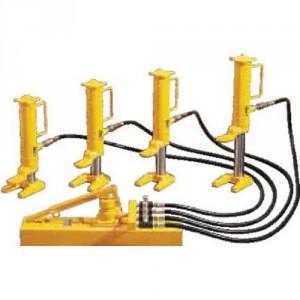 Vérins hydrauliques à patte  avec pompe séparée - Capacité 5 t, 10 t et 20 t