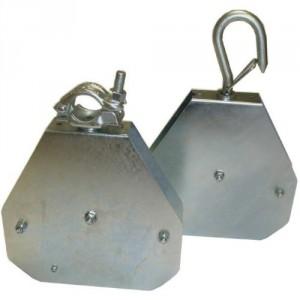 Poulie pour corde à cliquet RENFORCEE POULISTOP - Capacité 50 kg
