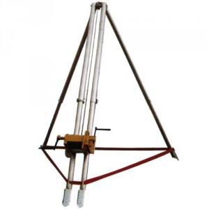 Trépied aluminium télescopique CTAT avec treuil manuel ou électrique - Capacité 0,5 t à 1 t