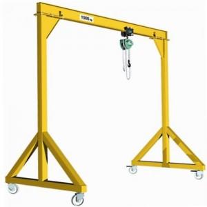 Portique acier PAD DEPLACABLE en charge avec poutre IPE - Capacité 0,5 t à 5 t
