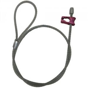 Elingue câble DWB & DWC avec crochet choker, 1 embout acier et 1 grande boucle ou boucle cossée sertie - Ø 13 mm et Ø 14 mm