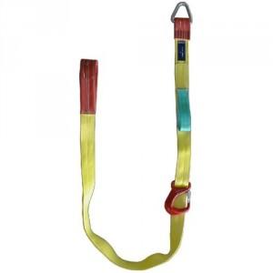 Elingue textile plate lève-tuyaux TP75 avec crochet coulissant - Capacité 2,5 t