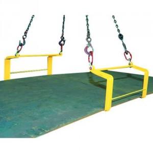 Crochets doubles QR pour levage HORIZONTAL de plaques - Capacité 3 t à 12 t