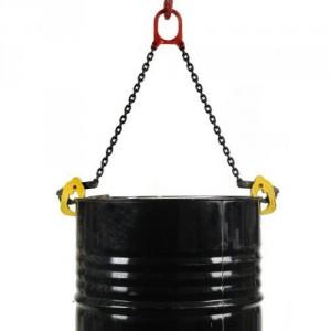 Elingue chaîne 2 brins avec pinces pour levage de fûts métalliques à rebords - Capacité 1 t