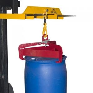 Pince SEMI-AUTOMATIQUE pour levage vertical de fûts plastiques et métalliques à rebords Ø 540 mm à 610 mm - Capacité 0,6 t