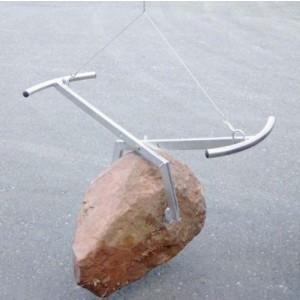 Pince PHS pour bordures de trottoirs, pierres, blocs de pierre de formes irrégulières largeur 0 à 400 mm - Capacité 0,2 t