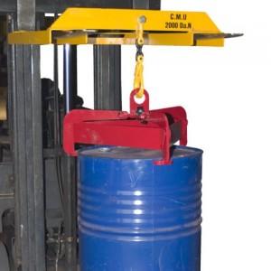 Pince AUTOMATIQUE pour le levage de fûts plastiques et métalliques à rebords Ø 540 mm à 610 mm - Capacité 0,6 t