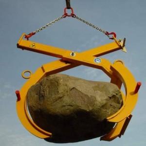 Pince élingable PZV pour blocs de pierre de formes irrégulières largeur 0 à 950 mm - Capacité 1,5 t