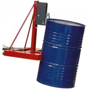 Pince automatique pour 1 fût plastique ou métallique à rebords - Capacité maxi 0,5 t