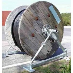 Dérouleur de bobine de câble VB30 équipé d'un frein réglable - Capacité 3 t - Ø mini/maxi 550/2000 mm