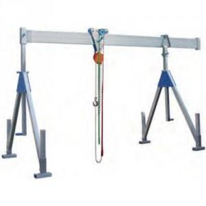 Portique démontable en aluminium PAFS FIXE, Poutre SIMPLE - Capacité 1 t et 1,5 t