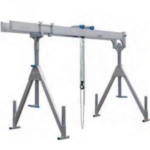 Portique démontable en aluminium PAFD FIXE Poutre DOUBLE - Capacité 1 t à 3 t