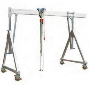 Portique démontable en aluminium PAMS MOBILE sous charge, Poutre SIMPLE - Capacité 1 t à 3 t