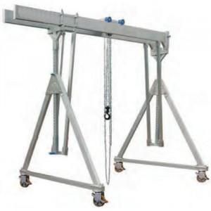 Portique démontable en aluminium PAMDT MOBILE sous charge, Poutre DOUBLE - Capacité 1 t à 3 t