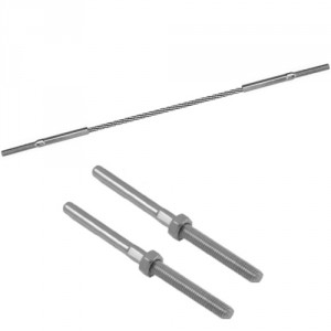 Câble acier INOX Ø 3 mm à 12 mm avec 2 terminaisons filetées