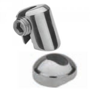 Arrêt multi-angle inox pour poteau rond, pour câble Ø 3 mm à 6 mm