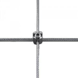 Serre-câble croisé simple inox pour câble Ø 3 & 4 mm avec fixation murale taraudée M8