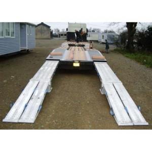 VFR 120 - Rampes de chargement en aluminium pour porte engins - Capacité 9780 kg à 23020 kg par paire - Longueur 3 m à 4,02 m