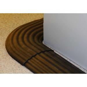 DC 020 - Passages de câbles ou de tuyaux en polyuréthane - Capacité 200 kg - Passage de câbles 2 canaux Ø 12 mm et 2 canaux Ø 10 mm