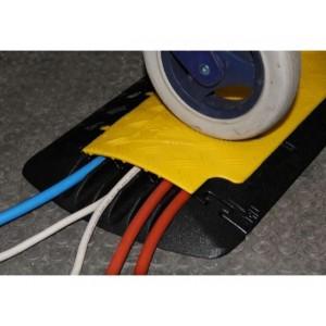 DS 032 - Passages de câbles ou de tuyaux en polyuréthane - Capacité 2000 kg - Passage de câbles 6 canaux Ø 15 mm