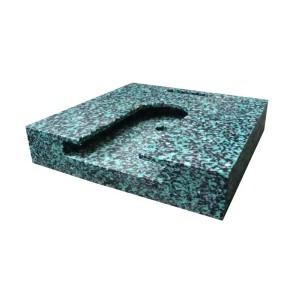 Patin carré à fixer en polyéthylène pour stabilisateurs de grues et nacelles - Capacité 10 t et 15 t - Format 400x400 mm et 500x500 mm