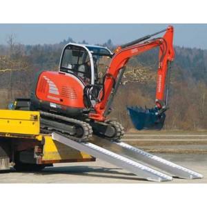 AVS 130 - Rampes de chargement en aluminium pour pneumatiques & chenilles caoutchouc - Capacité 2120 kg à 5150 kg par paire - Longueur 2,51 m à 5,21 m