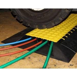 DS 052 - Passages de câbles ou de tuyaux en polyuréthane - Capacité 3500 kg - Passage de câbles 5 canaux Ø 35 mm
