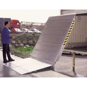 FBTS & FBTV - Pont de liaison en aluminium articulé pour grandes dénivellations FIXE ou COULISSANT dans un rail - Capacité 4000 kg